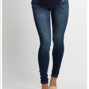 Navy dark wash maternity skinny jeans size 25